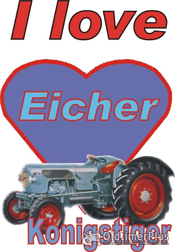 I love Eicher Königstiger T-Shirt Foto 1