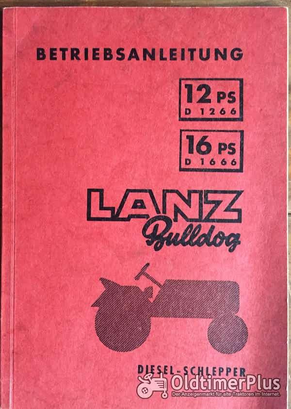 Lanz Bulldog Betriebsanleitung für D1266 / D1666 Foto 1