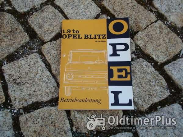 Betriebsanleitung Opel Blitz D 1966 1,9 to Foto 1
