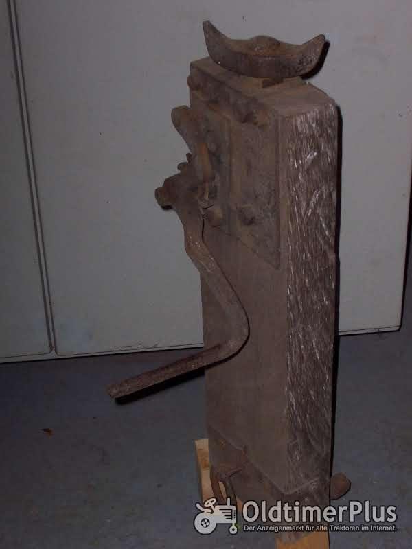 unbekannt Stockwinde mit Holzkörper Foto 1