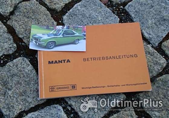 Betriebsanleitung Opel Manta A Coupé 1975 mit GTE Foto 1