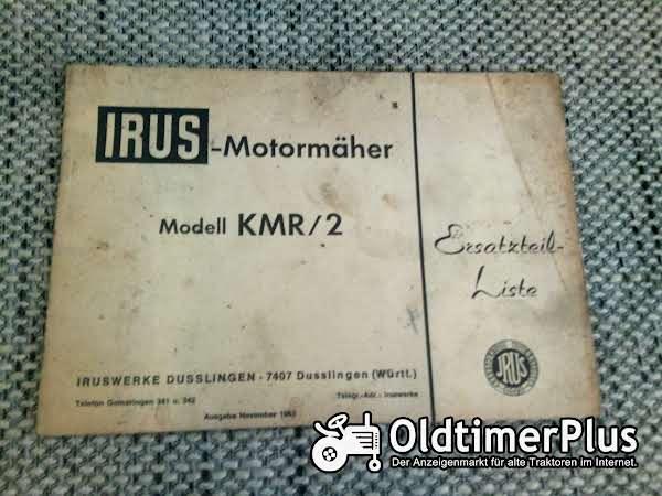 Irus KMR/2 Motormäher Ersatzteilliste Foto 1