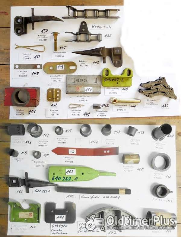 Claas Mädrescher, Presse, Ersatzteile, Sortiment B Foto 1