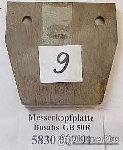 Busatis Mähwerk, Ersatzteile, Messerkopf, Messerrücken, Schuhplatte, usw. Foto 5