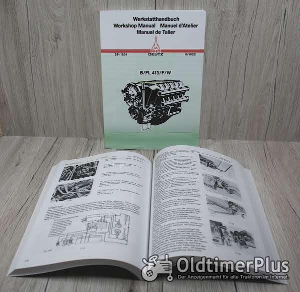Deutz Werkstatthandbuch Diesel Motor FL413 BFL413 FL413W FL413 FL413L BFL413L Foto 1