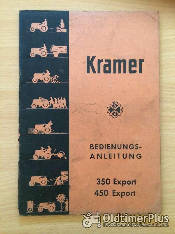 Kramer 350 450 Export Bedienungsanleitung Foto 1