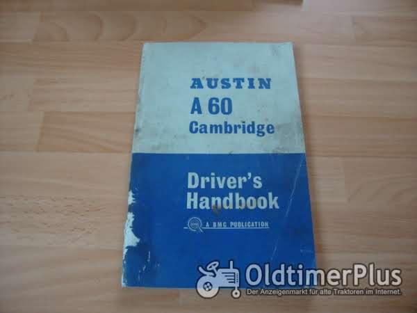 orig. Betriebsanleitung Austin A60 Cambridge 1967 Foto 1