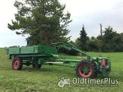 AGRIA Hatz Agria 2800 Hatz 12 PS mit Völker Triebachs-3Seit-Kipper-Anhänger Foto 3