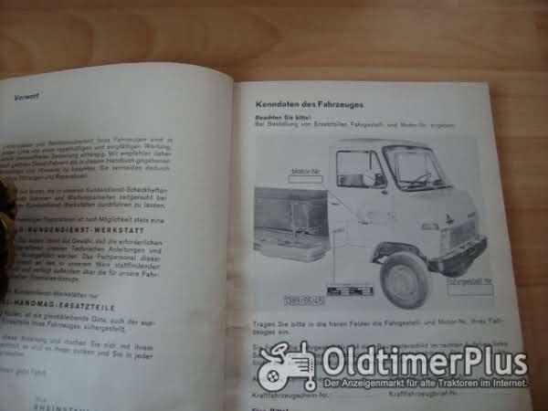 orig. Betriebsanleitung Hanomag Henschel F66 F76 1969 Foto 1