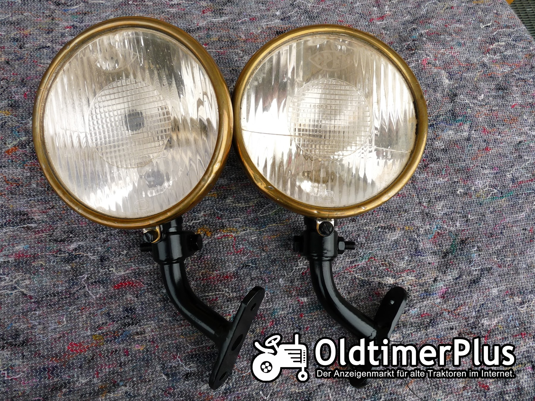 opel 2 st ck opel scheinwerfer lampen glas ca 17 cm oldtimer in deutschland zu verkaufen. Black Bedroom Furniture Sets. Home Design Ideas
