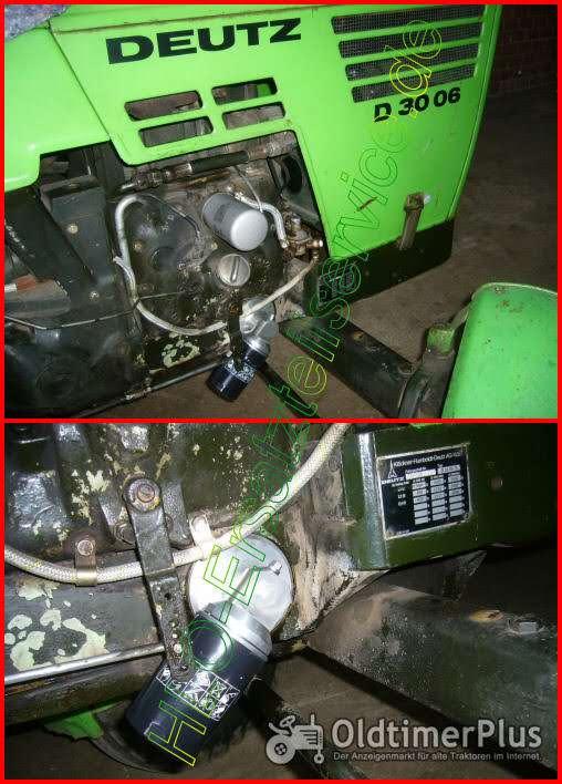 DEUTZ Motor D3006 D3005 D30 F2L 612 712 812 912 Ölfilter Adapter Umbausatz Ölfilterumbausatz  Spaltfilter Siebfilter Foto 1