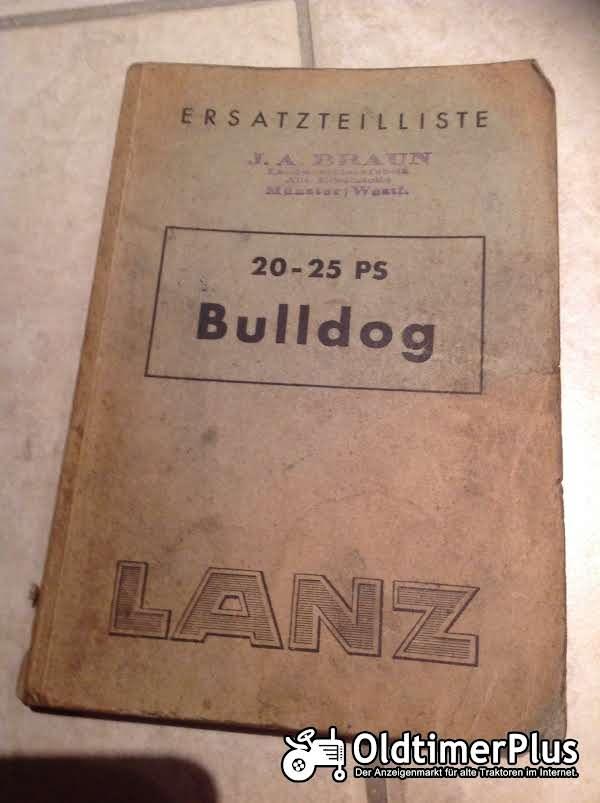 Lanz Bulldog Ersatzteilliste Foto 1
