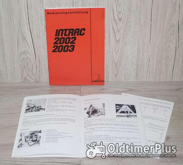Deutz Bedienungsanleitung Traktor Intrac 2002 und Intrac 2003 Foto 1