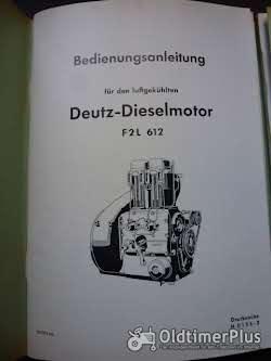 Deutz Dieselmotor F2L61 Bedienungsanleitung u. Eteilliste Foto 2