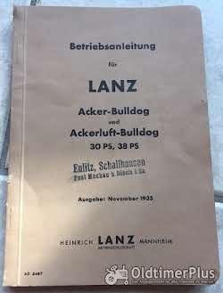 Literatur Lanz Bulldog Betriebsanleitung für 30 und 38 PS Acker und Ackerluft-Bulldog