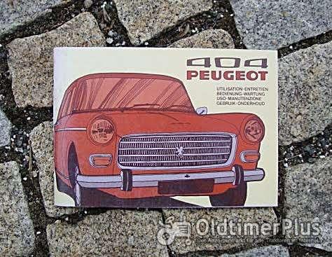 Betriebsanleitung Peugeot 404 Lim. Break Pickup 1974 Foto 1