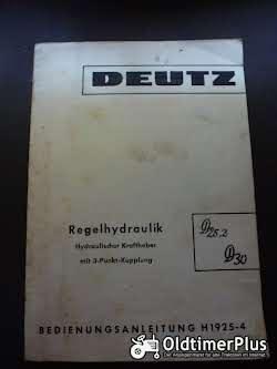 Literatur Bedienungsanleitung Regelhydraulik Deutz 25.2, D30