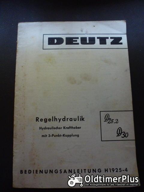 Bedienungsanleitung Regelhydraulik Deutz 25.2, D30 Foto 1