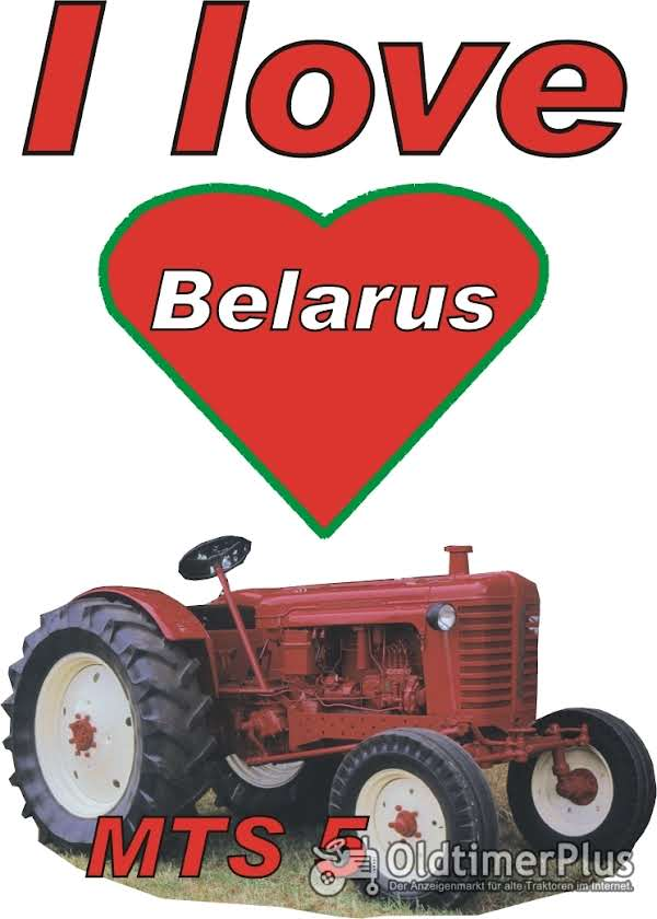 I love Belarus MTS 5 T-Shirt Foto 1