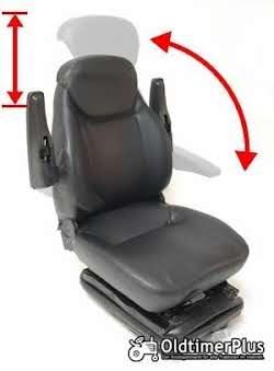 Universal Traktorsitz mit Feder - Öldämpfer System, belastbar bis 130 kg NEU Foto 6