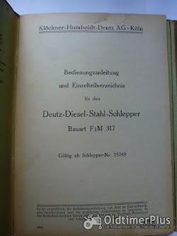 Deutz Bed.Anleitung u.Einzelteilverzeichnis für den D7824 50 PS Diesel Stahl Schlepper Foto 2