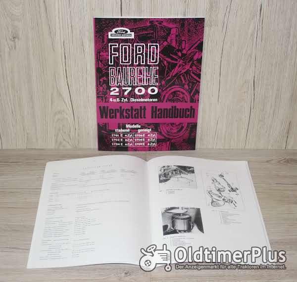 Ford Werkstatthandbuch Motor Baureihe 2700 für die 4 und 6 Zylindermotoren Foto 1