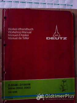 Literatur Deutz Werkstatthandbuch Druckluftbremsanlage D4006-D13006 u.w.
