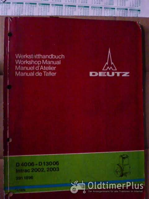 Deutz Werkstatthandbuch Druckluftbremsanlage D4006-D13006 u.w. Foto 1