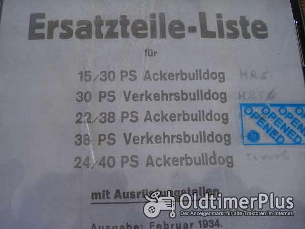 LANZ 15/30- 22/28 ersatzteilliste und Betriebsanleitung Foto 1