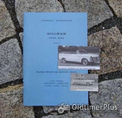Betriebsanleitung Hillmann Super Minx 1963 owners manual Foto 1