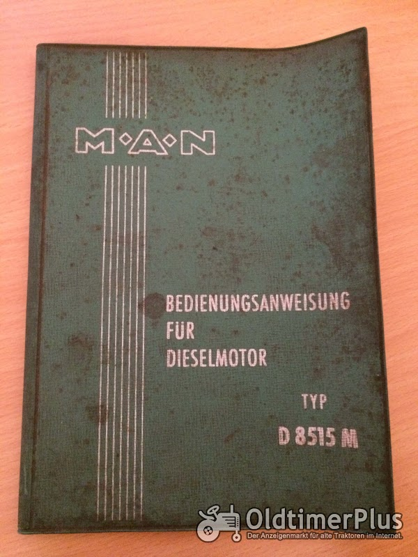 MAN D 8515 M Motor Bedienungsanleitung Foto 1