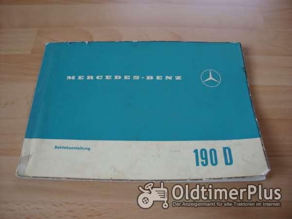 orig. Betriebsanleitung Mercedes W110 190Dc Flosse 1963 Foto 1