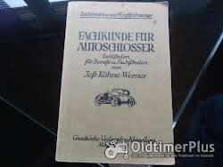 Literatur Fachkunde für Autoschlosser 1927