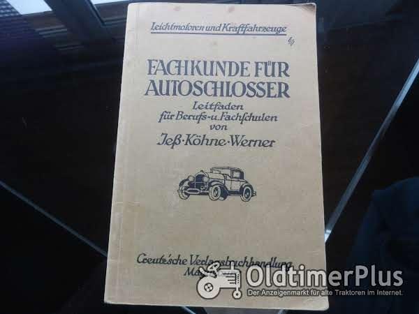Fachkunde für Autoschlosser 1927 Foto 1