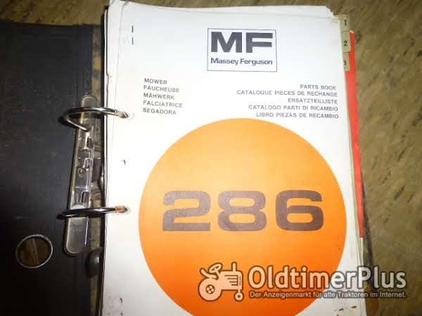 MASSEY FERGUSON Ersatzteilliste für Mähwerk MF Foto 1