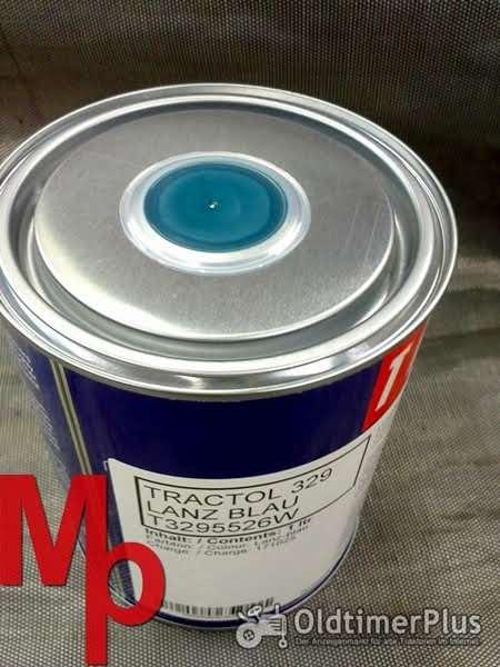 Lanz Schlepperlack  blau Foto 1