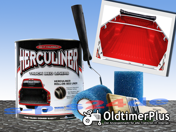 Herculiner Beschichtung für Nutzfahrzeuge Traktoren Oldtimer Landtechnik rot 3,69 Liter set Foto 1