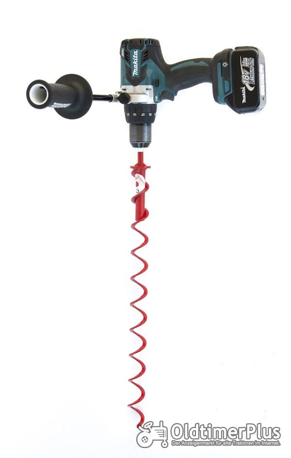 Verschiedene größen Erdbohrer für den Akkuschrauberantrieb  von 40mm bis 200mm Foto 1