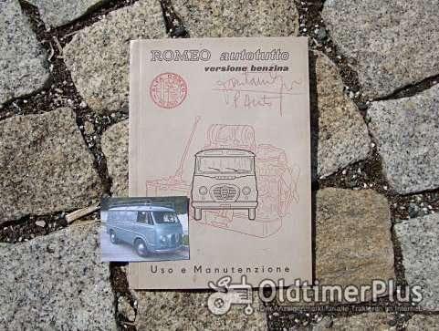 Betriebsanleitung Alfa Romeo Romeo I Bus Transporter 1957 Foto 1