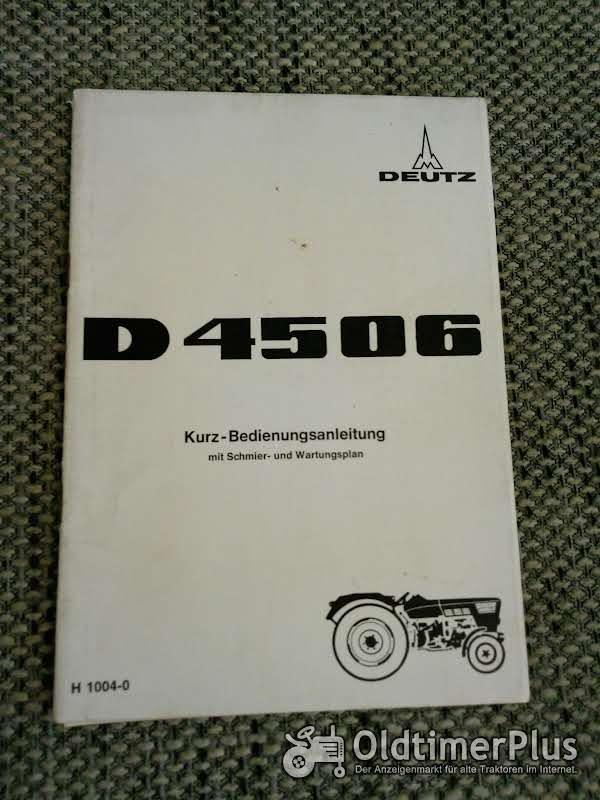 Deutz D 4506 Kurz-Bedienungsanleitung Foto 1