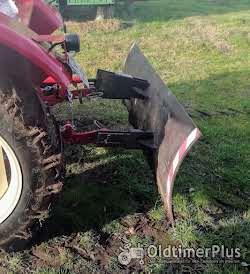 Planierschild, Schneeschild, Schiebeschild für 3 Punkt Hydraulik Oldtimer Schlepper Traktor Foto 2