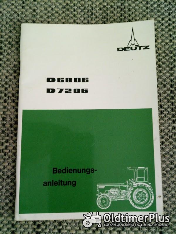 Deutz D 6806 7206 Bedienungsanleitung Foto 1