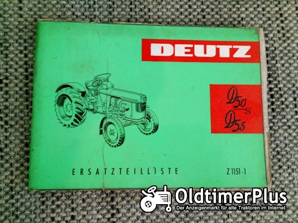 Deutz D50S D55 Ersatzteilliste Z 1151-1 Foto 1