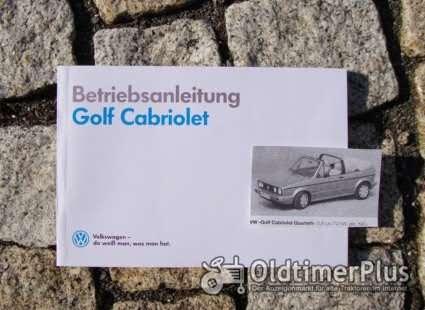 Betriebsanleitung VW Golf I Cabriolet 1990 Foto 1