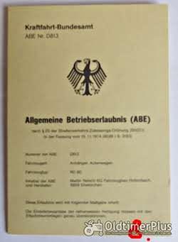 ABE, Allgemeine Betriebserlaubnis, KFZ-Brief Foto 7