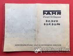 Betriebsanleitung für FAHR-Traktoren D17 und D22 Foto 6