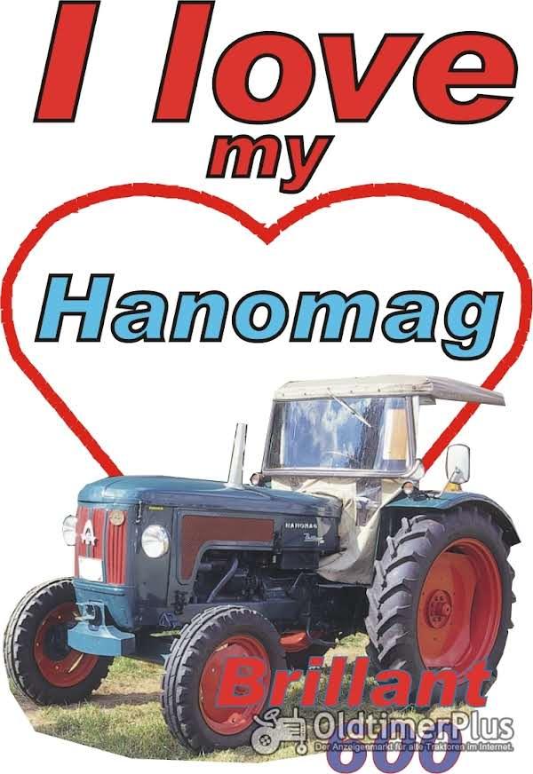 I love Hanomag Brillant 600,runde Haube T-Shirt Foto 1