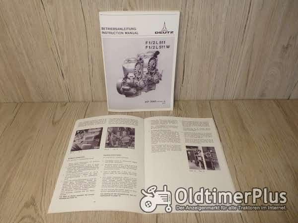 Deutz Bedienungsanleitung Motor F1/2L511/W Foto 1