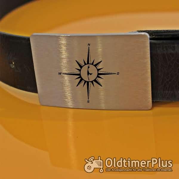Gürtelschnalle aus 3 mm starkem Edelstahl mit Wunschgravur Foto 1