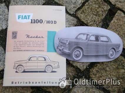 Betriebsanleitung Neckar NSU-Fiat 1100 1959 Typ 103D Foto 1